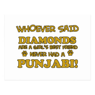 Punjabi cat breed designs postcard