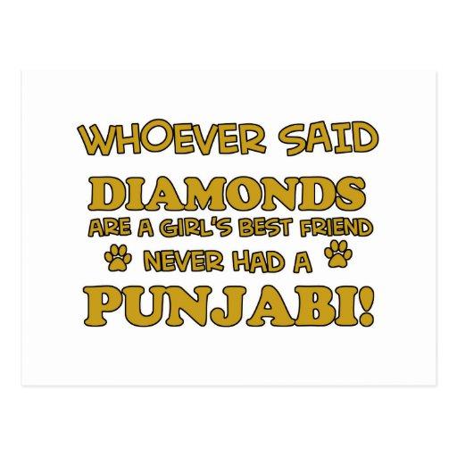 Punjabi cat breed designs post cards