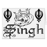 Punjabi Khanda Sikh Khalsa Design Merchandise Cards