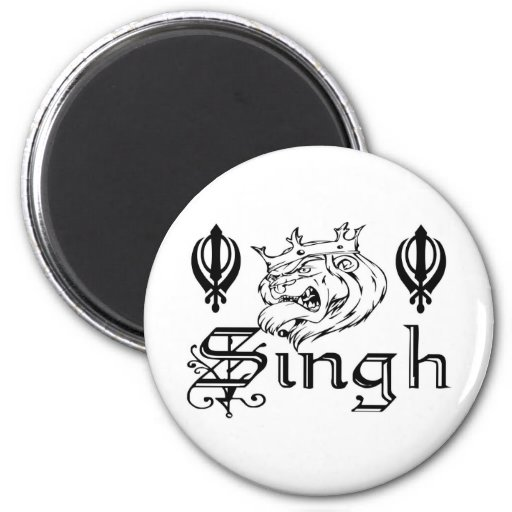 Punjabi Khanda Sikh Khalsa Merchandise 6 Cm Round Magnet