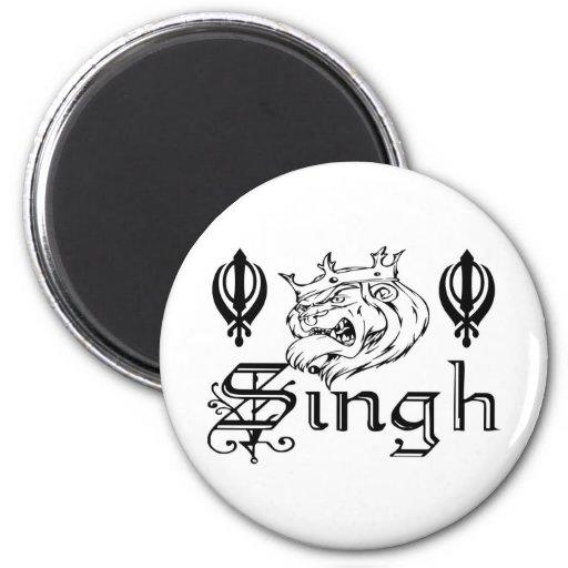 Punjabi Khanda Sikh Khalsa Merchandise 6 Cm Round Magnet