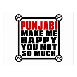 PUNJABI MAKE ME HAPPY YOU NOT SO MUCH POSTCARD