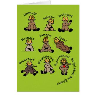 Punjabi Reindeer Card