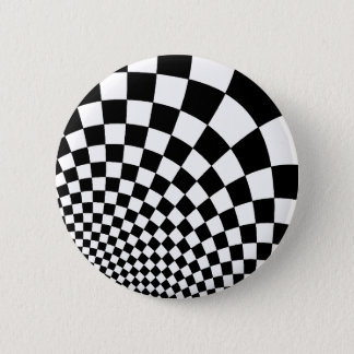 Punk abstract checkerboard 6 cm round badge
