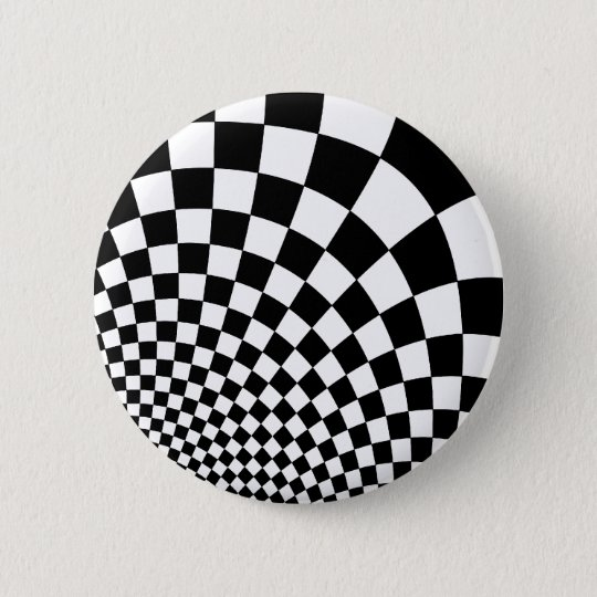 Punk abstract chequerboard 6 cm round badge