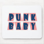 punk baby pink mouse pad