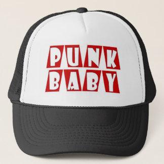 punk baby red trucker hat