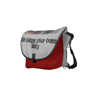 Punk bag - Do things your own way! Courier Bag