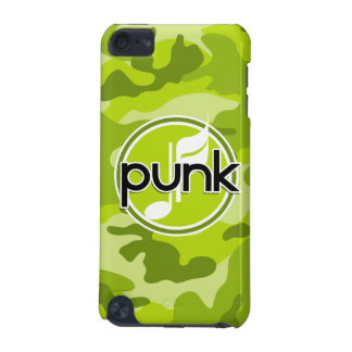 Punk bright green camo camouflage iPod touch 5G cover
