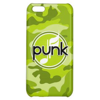 Punk bright green camo camouflage iPhone 5C case