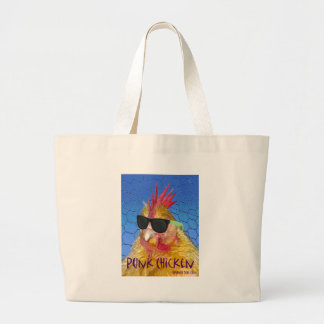 Punk Chicken Jumbo Tote Bag