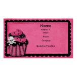 punk cupcake business card