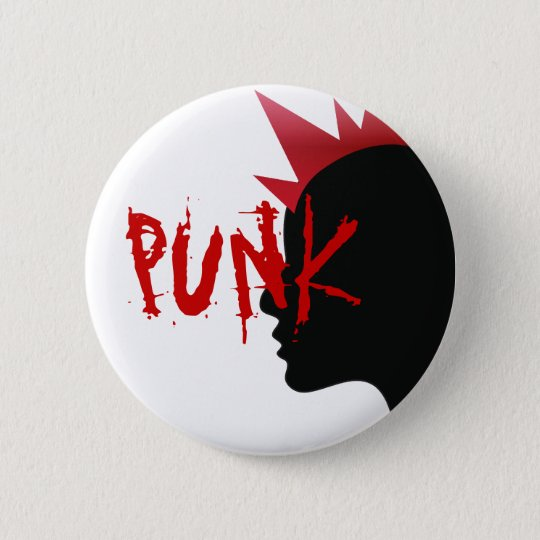 punk design 6 cm round badge