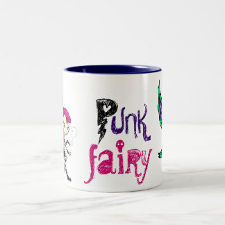 Punk Fairy Two-Tone Coffee Mug