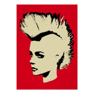 Punk Girl - bichrome print