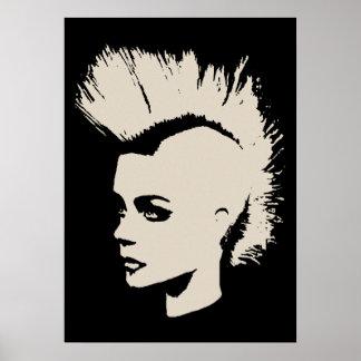 Punk Girl - university University of print - cream