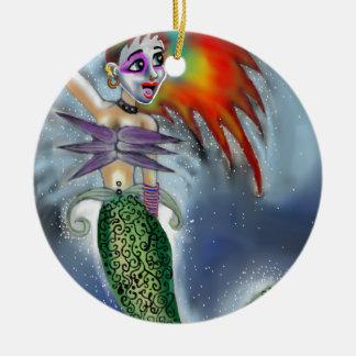 Punk goes the Mermaid Christmas Ornament
