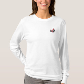 Punk Goth Winged Heart SMALL Embroidered Long Sleeve T-Shirt