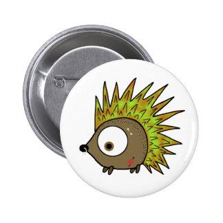 Punk Hedgehog 6 Cm Round Badge