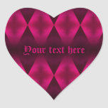 Punk hot pink diamond pattern heart