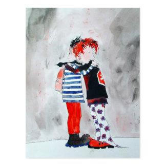 Punk hug postcard