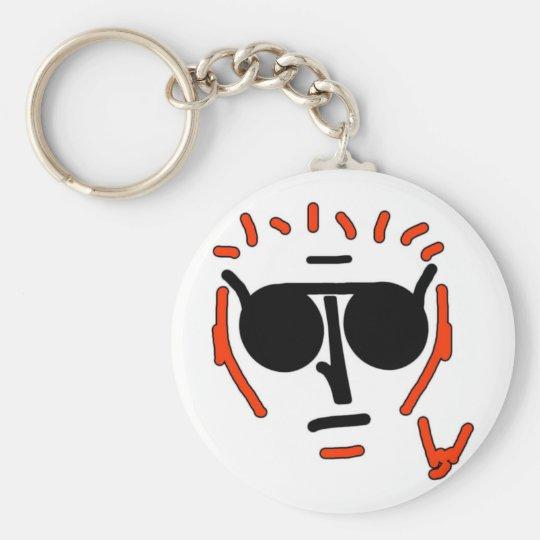 Punk Kid Basic Round Button Key Ring