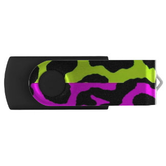 Punk Leopard Print USB Swivel Flash Drive