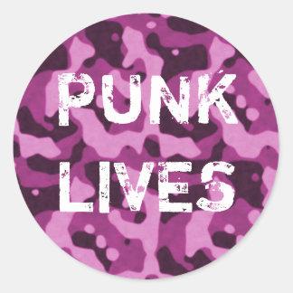 Punk Lives Pink Camo Sticker