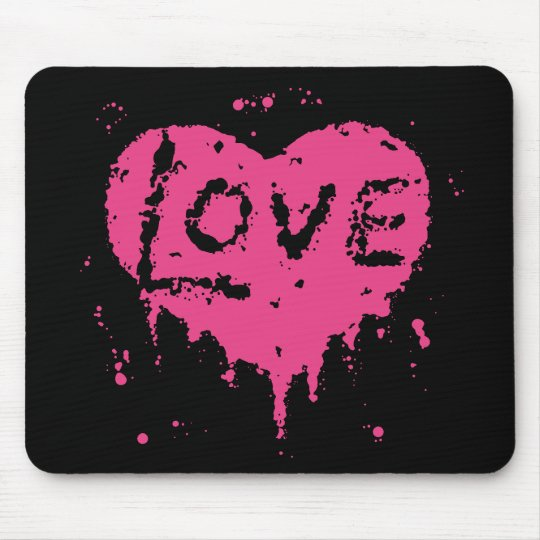 Punk love heart | Valentines Day Mouse Mat