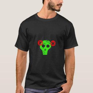 Punk Neon Green Skull shirt