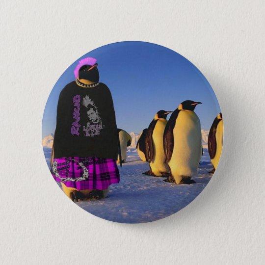 Punk Penguin 6 Cm Round Badge