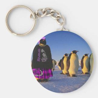Punk Penguin Key Ring