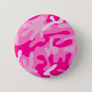 Punk Pink Camo 6 Cm Round Badge