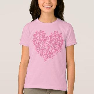 Punk Pink Skull Heart Tees