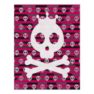 Punk Pirate Skull Canvas Poster