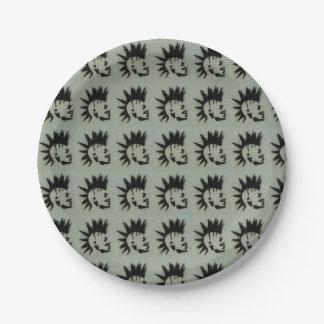 Punk plate. paper plate
