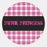 Punk Princess Pink and Black Plaid Sticker