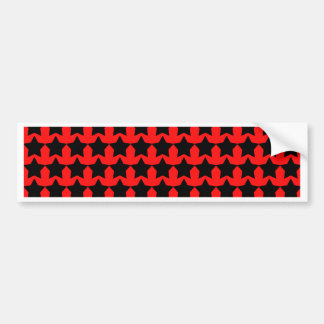Punk Red and Black Stars Bumper Sticker