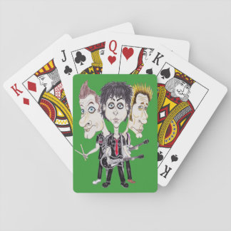 Punk Rock Band Funny Caricature Drawing Cards Deck Of Cards