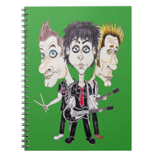 Punk Rock Band Funny Caricature Drawing Notebook