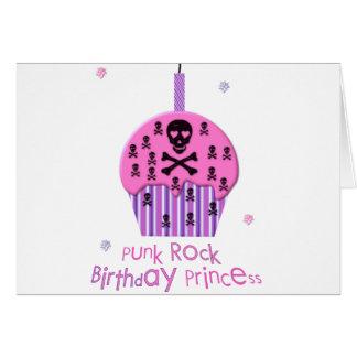 Punk Rock Birthday Princess Greeting Card