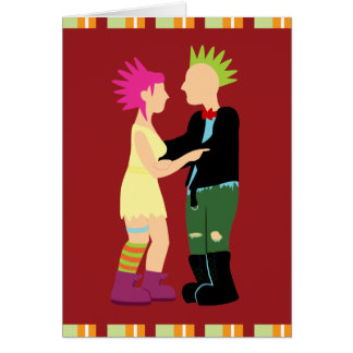 Punk Rock Bride and Groom Thank You Cards