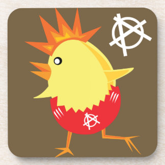 Punk Rock Chicken Beverage Coasters