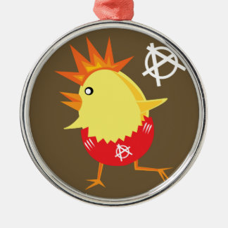 Punk Rock Chicken Christmas Ornament