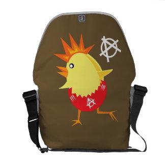 Punk Rock Chicken Messenger Bag