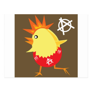 Punk Rock Chicken Postcard