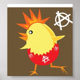 Punk Rock Chicken Poster