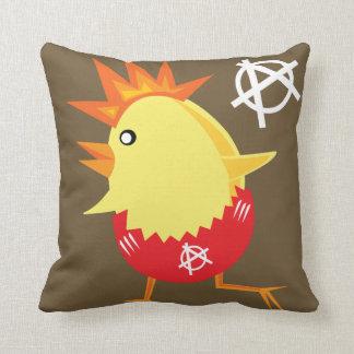 Punk Rock Chicken Throw Cushions