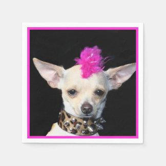 Punk Rock Chihuahua paper napkins