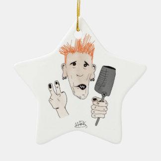 Punk Rock Christmas Ornament